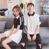 情侶裝裝韓版男女氣質POLO衫短袖T恤