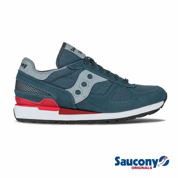 SAUCONY SHADOW VEGAN 經典復古鞋款-藍X紅