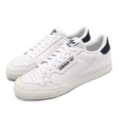 adidas 休閒鞋 Continental VULC 白 藍 男鞋 女鞋 皮面 運動鞋 【PUMP306】 EG4588