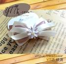【YT店髮飾】花朵典雅粉紫蝴蝶結髮夾/髮飾/頭飾/彈簧夾(G023)
