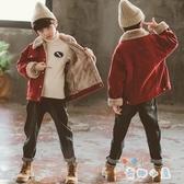 男童加絨外套加厚童裝兒童中大童羊羔絨潮【奇趣小屋】