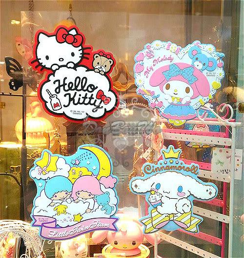 kitty美樂蒂布丁狗大耳狗雙子星酷企鵝大眼蛙窗戶行李箱筆記本裝飾貼085592通販屋