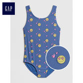 Gap女孩 妙趣表情符號圓領連體泳衣 441866-藍色