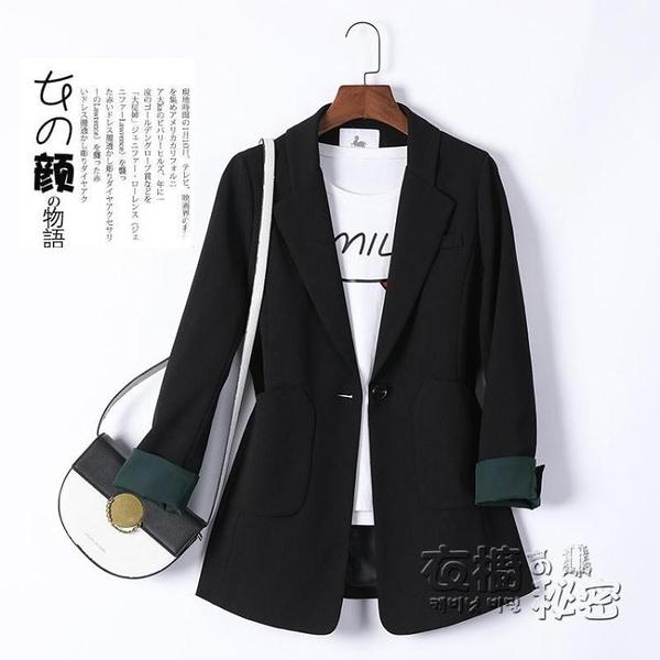 黑色西裝外套女新款韓版秋冬季休閒英倫風設計感小眾西服上衣 雙十二全館免運