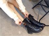 馬丁靴     馬丁靴女韓版百搭短靴平底英倫風靴子    瑪麗蘇
