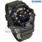 CASIO卡西歐 HDC-700-3A 經典再現10年電力雙顯電子錶 黑X綠 男錶 橡膠錶帶 防水手錶 HDC-700-3AVDF