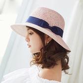 編織草帽 可折疊遮陽帽 海邊度假沙灘帽【非凡上品】z270