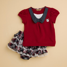 【金安德森】PIMA上衣+紅藍格蛋糕裙套裝