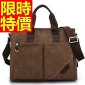 帆布包-好搭實用大容量可側背男手提包4色59j87【巴黎精品】