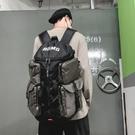 登山背包 潮牌背包多功能潮流男雙肩包軍事機能運動戶外大容量旅行包登山包 快速出貨YJT