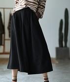 搭配神器復古毛呢百搭顯瘦中長版A字裙子二色可選/設計家Q3234