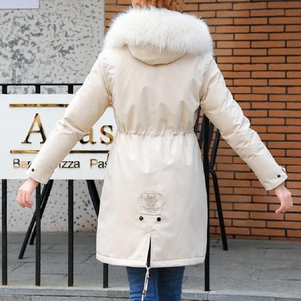 【現貨免運】梨卡 - 加厚【內鋪毛】保暖縮腰大毛領兔毛鋪毛防風禦寒軍裝風衣外套大衣AR138