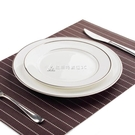 6寸/8寸/10寸銀邊平盤 西餐盤牛排盤 酒店家用餐具水果盤餃子盤子 交換禮物