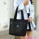 尼龍包通勤手拎包時尚百搭尼龍帆布包包2021年新款女包大容量側背手提包 JUST M