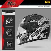 [安信騎士] Nikko NK-805 NK805 #6 黑銀 全罩 安全帽 內襯全可拆 免運 送好禮二選一
