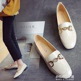 新款英倫風女鞋小皮鞋款韓版百搭方頭漆皮淺口單鞋女潮  朵拉朵衣櫥