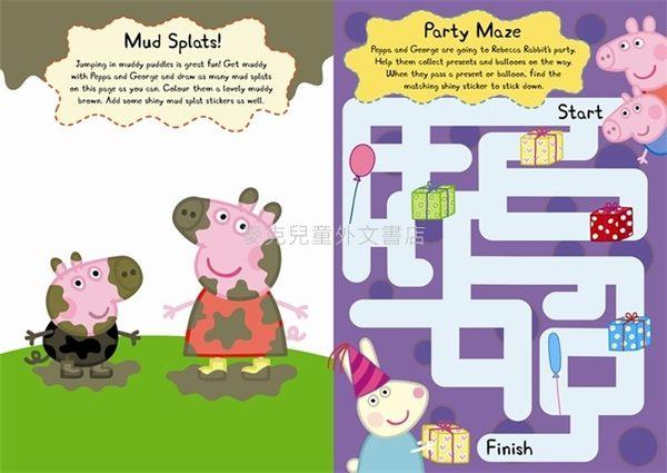 【佩佩豬】PEPPA PIG: PEPPA AND GEORGES SHINY STICKER PLAY BOOK /貼紙活動書