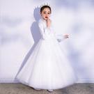 公主裙女童蓬蓬紗兒童高端走秀晚禮服女孩花童婚紗鋼琴演出服 快速出貨