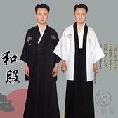 日本傳統男士正裝和服家居浴衣睡袍cosply武士拍照寫真舞臺演出服【小酒窩服飾】