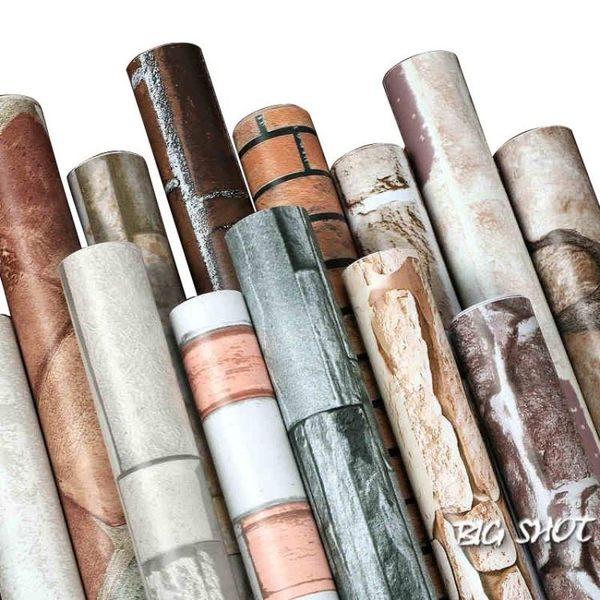 墻貼-加厚磚紋磚塊PVC墻紙自粘防水墻紙學生宿舍寢室自貼壁紙裝飾墻貼【大咖玩家】