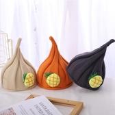 兒童冬帽 兒童秋冬季保暖針織帽子寶寶套頭尖尖帽可愛小菠蘿嬰兒帽南瓜帽潮 歐歐