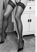 618好康鉅惠春夏女薄款長筒襪性感黑色網紗薄蕾絲絲襪