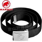 Mammut長毛象 1090-01611-0001黑  中性金屬浮雕腰帶 Belt圖騰扣帶/運動腰帶