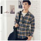 【大盤大】(S89155)男 100%純棉襯衫 初秋 格子 格紋 蘇格蘭 休閒襯衫 溫差大 超低價 M-XXL