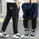 男童加絨褲子一體絨秋冬裝新款童裝兒童運動褲中大童休閒長褲 小山好物