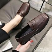 小皮鞋復古英倫學院風韓版平底百搭小皮鞋女2021春季新款黑色軟皮鞋子潮  雲朵 上新