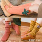 春秋款純棉女童兒童堆堆襪子寶寶中長筒襪韓國版可愛女孩卡通公主  一米陽光