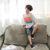 男童短袖t恤2018新款夏裝兒童上衣休閒卡通夏季韓版潮寬鬆男寶寶   初見居家