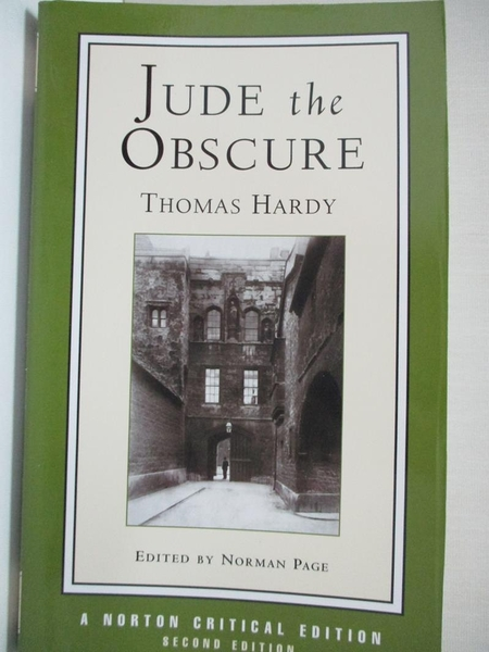 【書寶二手書T1/原文小說_IE9】Jude the Obscure: An Authoritative Text : Backgrounds…