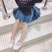 中小女兒童牛仔半身裙2018夏季新款韓版寬鬆