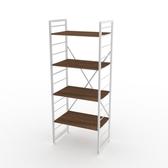 (組)特力屋萊特四層架白框/深木紋-60x40x158cm
