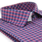 【金‧安德森】紅灰格紋厚暖窄版長袖襯衫