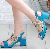 (零34.35.39)MODO.我行我色/軟硬合宜EPU腳墊-THE ONE-氣墊鞋/涼鞋(全牛皮)-EP00502 藍
