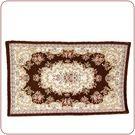 手工紡織印度風圖騰咖啡色衛浴/室內地毯【...