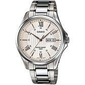 【台南 時代鐘錶 CASIO】卡西歐 台灣公司貨 MTP-1384D-7A 羅馬時標大三針時尚手錶