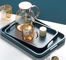 茶盤 現代簡約茶盤家用實木長方形托盤北歐風格客廳日式放杯子茶具提手【快速出貨八折搶購】