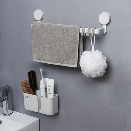 毛巾架免打孔家用多層多掛掛架衛生間的架子掛抹布浴室放浴巾單桿NMS快意購物網