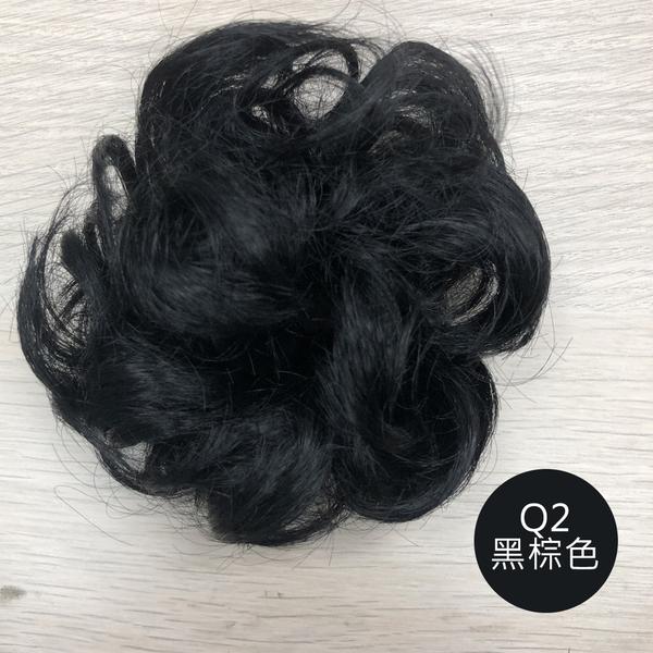 QQ丸子頭韓系髮包 波浪捲髮髮束 包子頭 Q 魔髮樂Mofalove