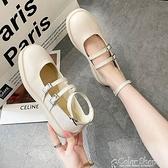 小皮鞋日系女jk鞋子女2021年新款春天粗跟平底單鞋女復古瑪麗珍鞋 快速出貨