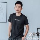 【OBIYUAN】短袖T恤 簡約小英文 雙面印花 韓版短袖上衣 共3色【HJ9337】