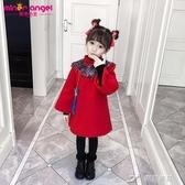 兒童新年裝 拜年服寶寶女童裝中國風漢服喜慶古裝新年衣服女童旗袍冬兒童唐裝 樂芙美鞋