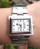 【卡漫城】六折出清 史奴比 橫式 長方形 手錶 ㊣版 史努比 男錶 女錶 Snoopy 不鏽鋼 鐵錶 鋼錶