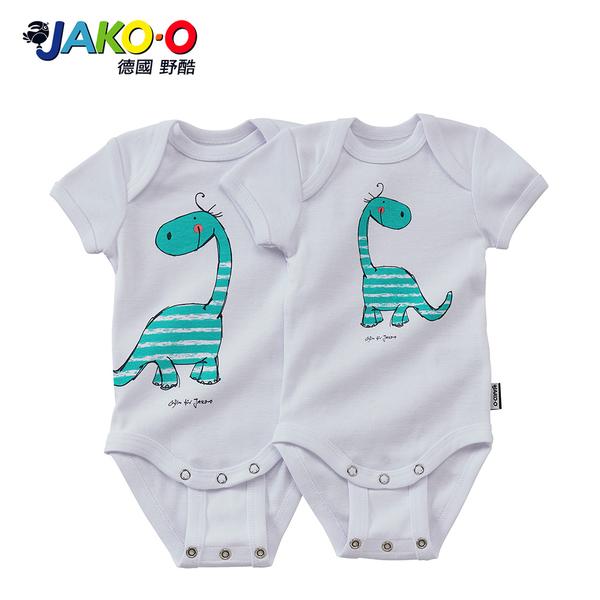 JAKO-O德國野酷-純棉短袖包屁衣兩件組-雷龍