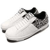 Royal Elastics 休閒鞋 Icon 白 黑 無鞋帶設計 皮革鞋面 豹紋 女鞋【PUMP306】 92073098