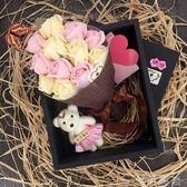 香皂花 情人節禮物送女友玫瑰花束生日女生友情閨蜜創意特別的香皂花禮盒 唯伊時尚