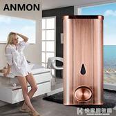 給皂機不銹鋼手動皂液器皂液盒酒店浴室廚房壁掛式瓶沐浴器